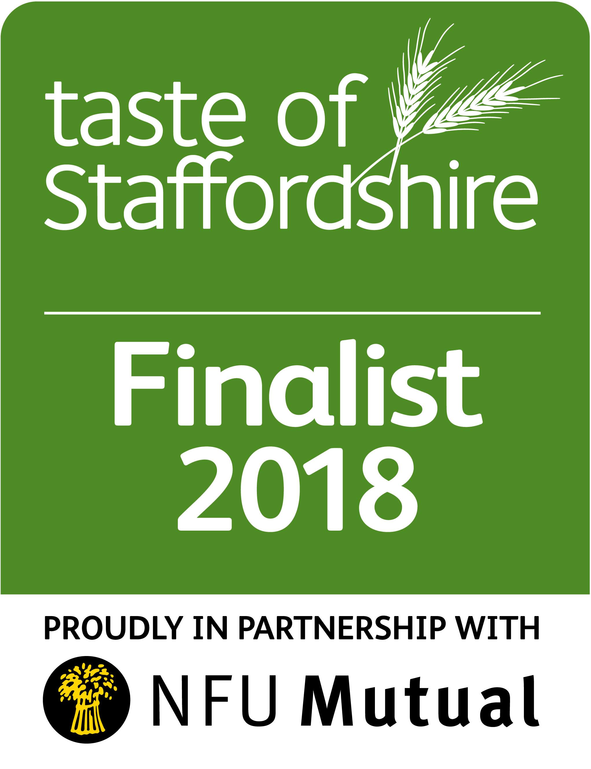 Taste Of Staffordshire Finalist 2018